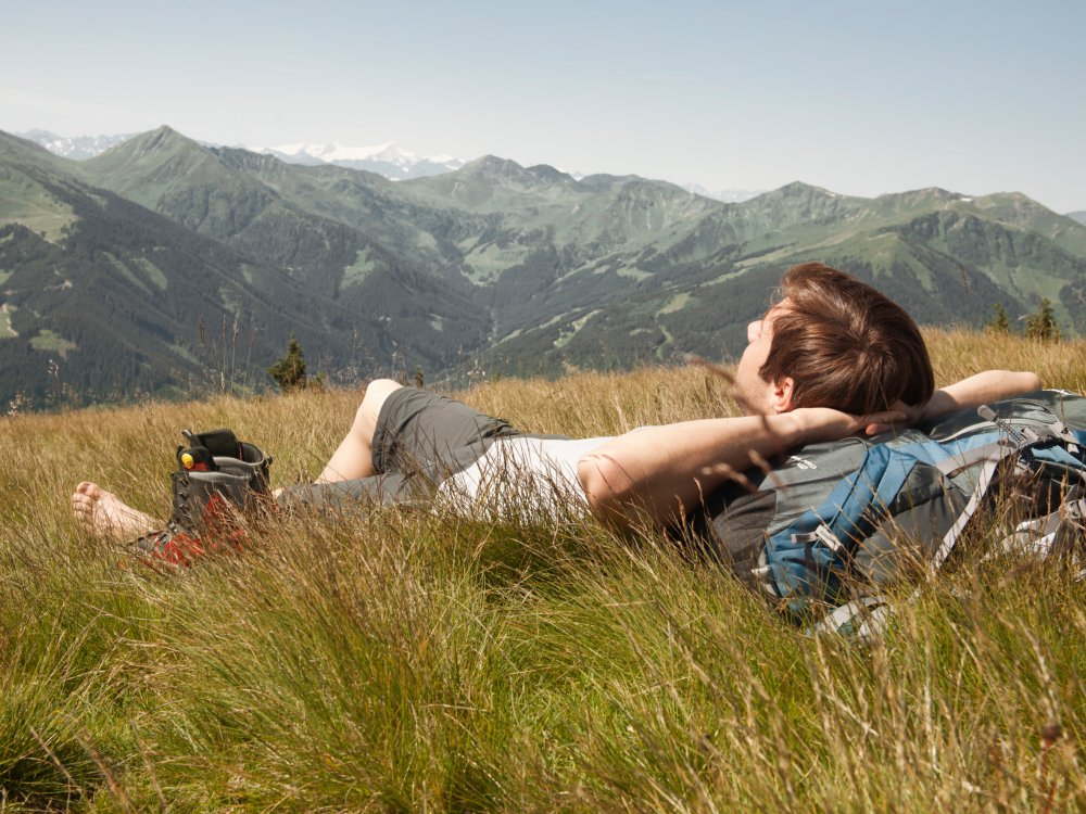 Relax after hiking tour